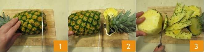 Sorbetto di ananas e menta