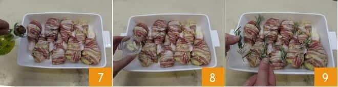 Fusi di pollo alla senape e bacon