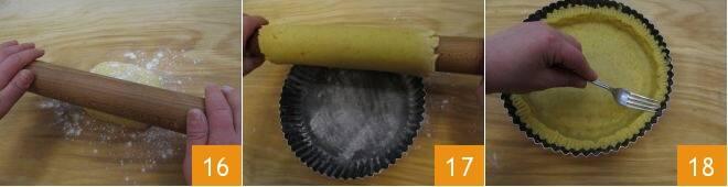 Crostata con mascarpone e gocce di cioccolato