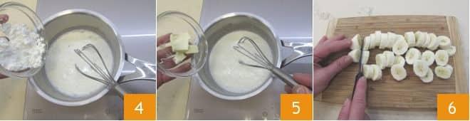 Soufflé di banane con salsa al cioccolato