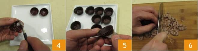 Cioccolatini al fondente con crema di mascarpone