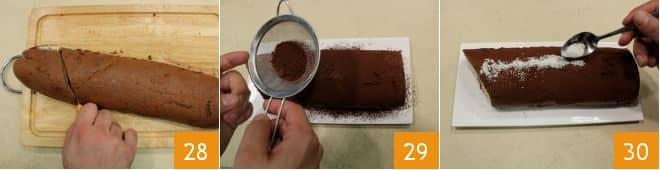 Rotolo al cacao con crema al cioccolato bianco